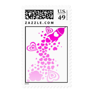 Romance_On_A_Rocket Postage Stamps