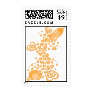 Romance_On_A_Rocket Postage Stamp