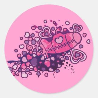 Romance_On_A_Submarine Classic Round Sticker
