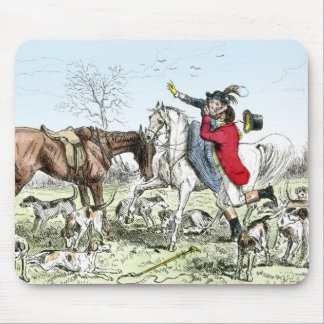 Romance on the Hunt Mouse Pad