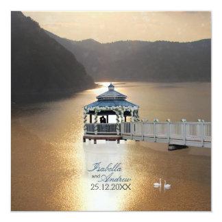 Romance on the Lake Custom Invite