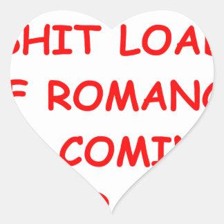 romance pegatina en forma de corazón
