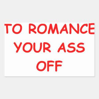 ROMANCE PEGATINA RECTANGULAR