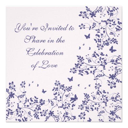 Romance/profundamente Lavendar de la mariposa Invitacion Personal