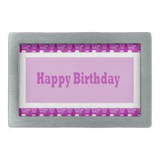 Romance púrpura 9 del amor del saludo del rosa del hebillas de cinturón rectangulares