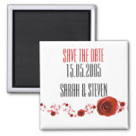 Romance Red Roses Save the date Refrigerator Magnet