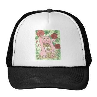 Romance, Red Roses, & The Lucky Yin Yang Heart Trucker Hat