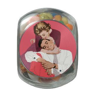 Romance retro rosado, amor romántico del vintage frascos de cristal
