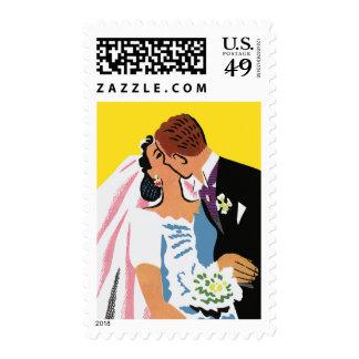 ¡Romance retro ¡Usted puede ahora besar a la novi