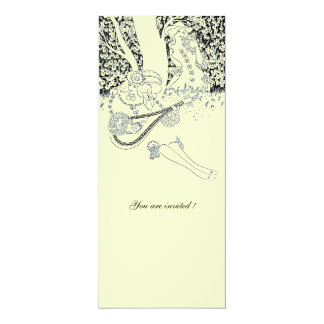 ROMANCE,ROMANTIC LOVERS BLACK WHITE WEDDING PARTY CARD