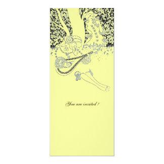 ROMANCE,ROMANTIC LOVERS BLACK YELLOW WEDDING PARTY CARD