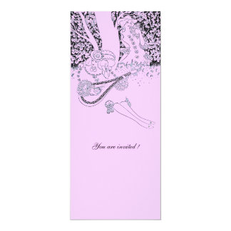 ROMANCE /ROMANTIC LOVERS PINK LILAC WEDDING PARTY CARD