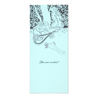 ROMANCE /ROMANTIC LOVERS TEAL BLUE WEDDING PARTY CARD