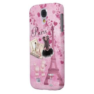 Romance rosado femenino elegante del vintage de Pa Funda Para Galaxy S4