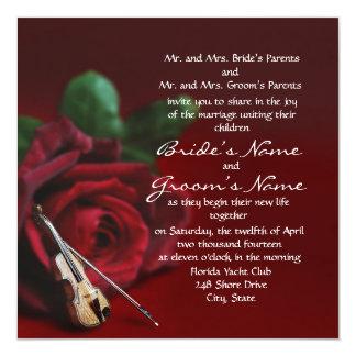 """Romance Square Invitation 5.25"""" Square Invitation Card"""