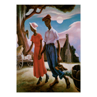 Romance, Thomas Hart Benton, poster Póster