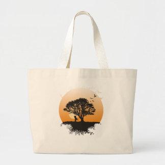 Romance tree large tote bag