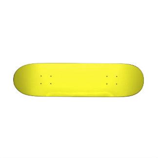 Romance tropical amarillo de neón ácido del limón monopatín 21,1 cm
