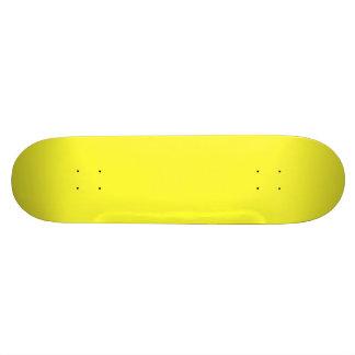 Romance tropical amarillo de neón ácido del limón patineta personalizada