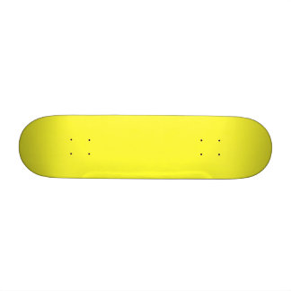 Romance tropical amarillo de neón ácido del limón patinetas personalizadas