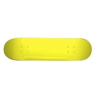 Romance tropical amarillo de neón ácido del limón tablas de patinar