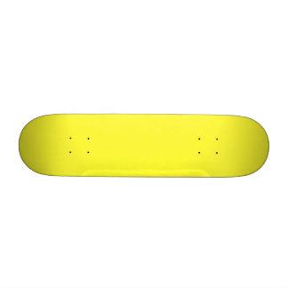 Romance tropical amarillo de neón ácido del limón monopatín 18,7 cm