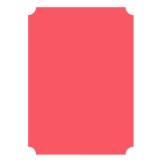 Romance tropical Coral-Melocotón-Melón-Rosado del Invitación 12,7 X 17,8 Cm