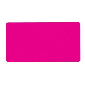 Romance tropical magenta Fucsia-Púrpura-Rosado de Etiqueta De Envío