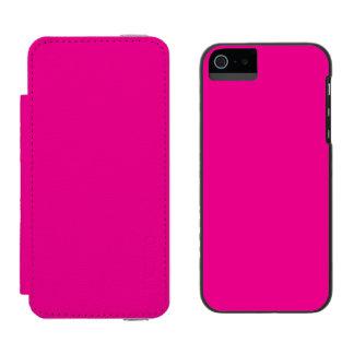 Romance tropical magenta Fucsia-Púrpura-Rosado de Funda Billetera Para iPhone 5 Watson