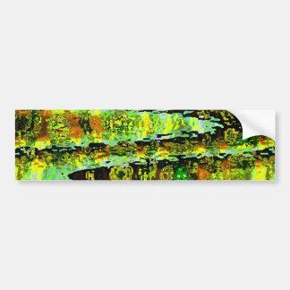 Romance verde de la laguna: Agita espectro de n Pegatina Para Auto