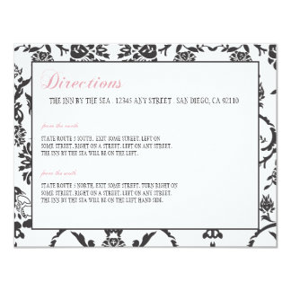 Romance Wedding Insert Card Personalized Announcement