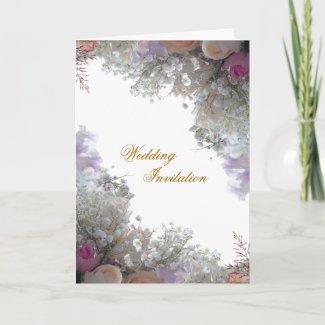 Romance Wedding Invitation Card card