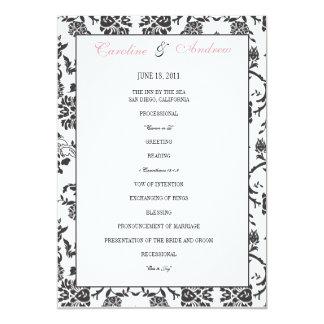 Romance Wedding Program 5x7 Paper Invitation Card