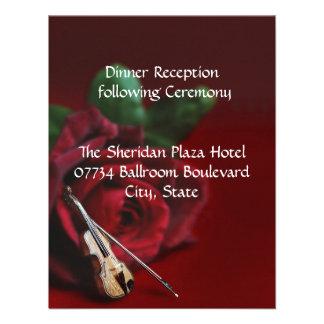 Romance Wedding Reception Card Custom Invitations