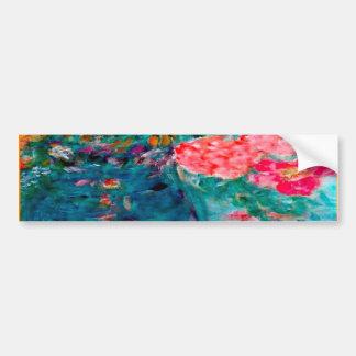 Romance Whimsical Designer Art Flower Gift Bumper Sticker