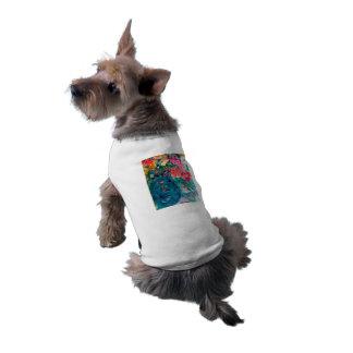 Romance Whimsical Designer Art Flower Gift Dog Tshirt
