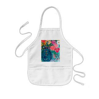 Romance Whimsical Designer Art Flower Gift Kids' Apron