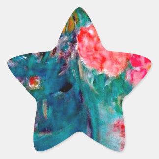 Romance Whimsical Designer Art Flower Gift Star Sticker