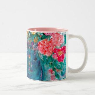 Romance Whimsical Designer Art Flower Gift Two-Tone Coffee Mug