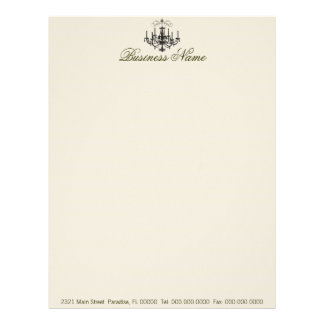 Romance with a Chandelier ~ Business Letterhead