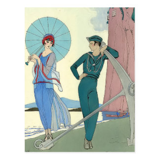 Romance Without Words by George Barbier Post Cards
