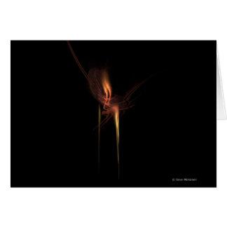 Romance y luz de una vela tarjeta