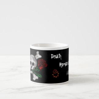 Romance y vapor, taza de la muerte de la tazitas espresso