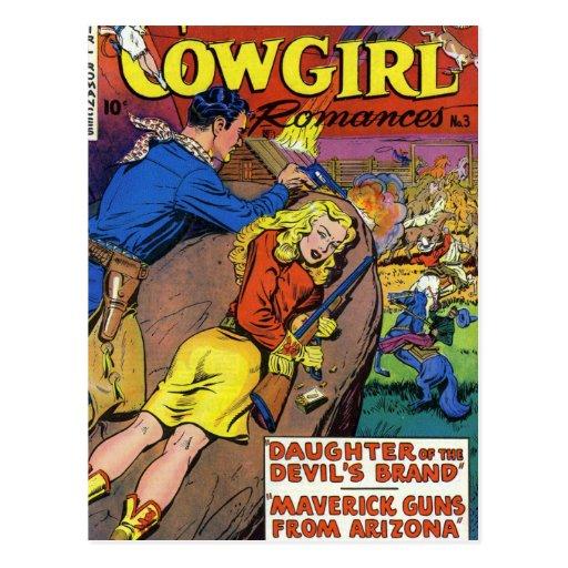 Romances del vaquero tarjeta postal