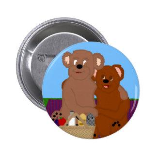 Romancing el botón del oso pin