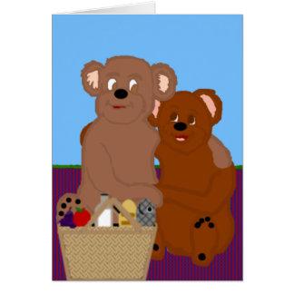 Romancing el oso Notecard