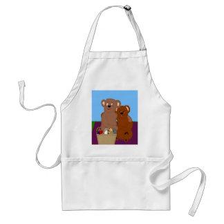 Romancing el oso sobre delantal