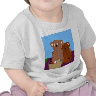 Romancing la camiseta del niño del oso