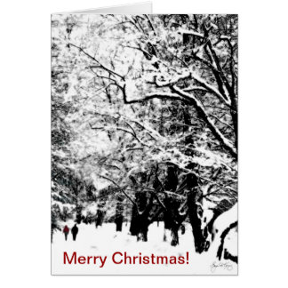 Romancing la nieve - tarjeta de Navidad