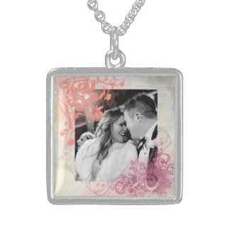 Romancing the wedding ... square pendant necklace